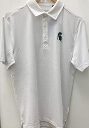 Columbia Michigan State Spartans Mens White Sunday Short Sleeve Polo