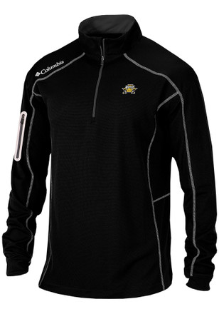 Columbia Northern Kentucky Norse Mens Black Shotgun 1/4 Zip Pullover