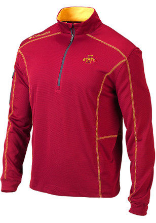 Columbia Iowa State Cyclones Mens Red Shotgun 1/4 Zip Pullover