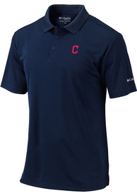 Cleveland Indians Columbia Round One Polo Shirt - Navy Blue