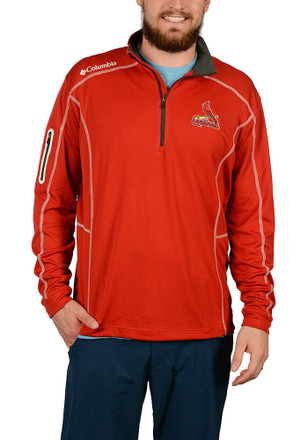 Columbia St Louis Cardinals Mens Red Shotgun 1/4 Zip Pullover