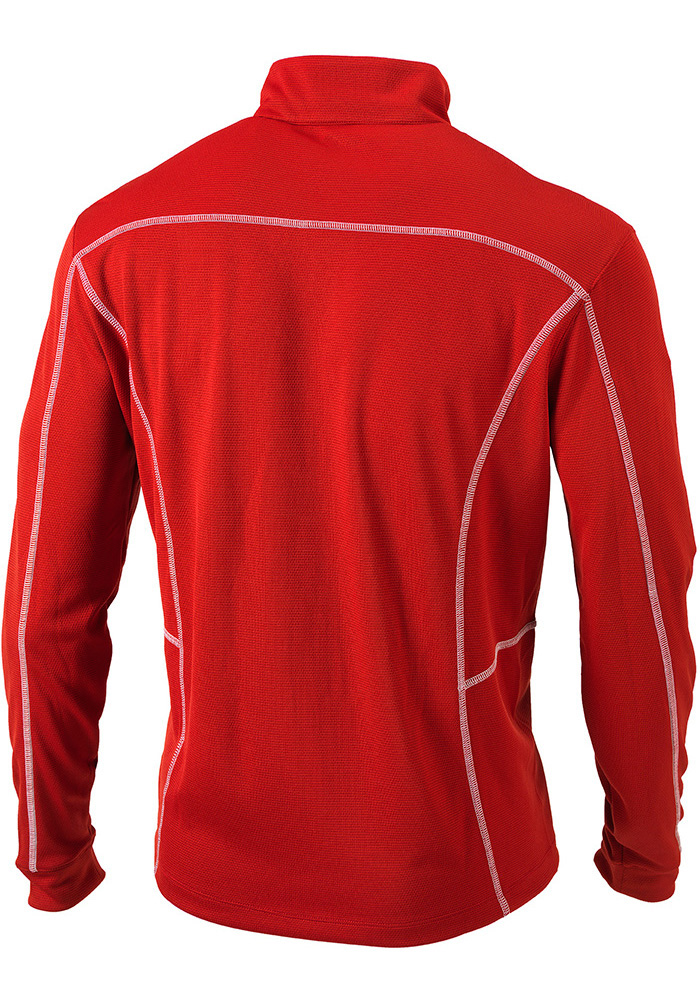 Columbia St Louis Cardinals Mens Red Shotgun Long Sleeve 1/4 Zip Pullover - Image 3