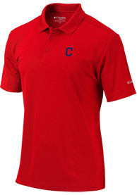 Cleveland Indians Columbia Round One Polo Shirt - Red