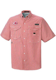 Columbia Cincinnati Reds Red Super Bonehead Dress Shirt