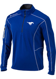 Columbia SMU Mustangs Blue Shotgun 1/4 Zip Pullover