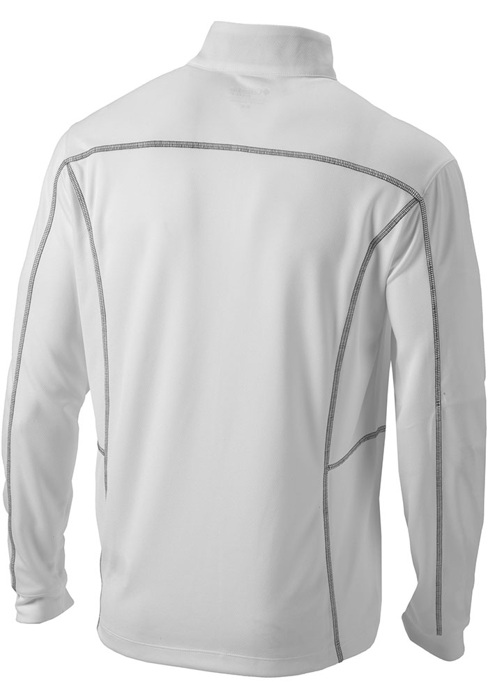 Columbia SMU Mustangs Mens White Shotgun Long Sleeve 1/4 Zip Pullover - Image 2
