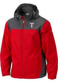 Columbia Texas Rangers Red Glennaker Lake Light Weight Jacket