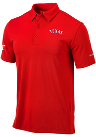 Columbia Texas Rangers Red Drive Short Sleeve Polo Shirt