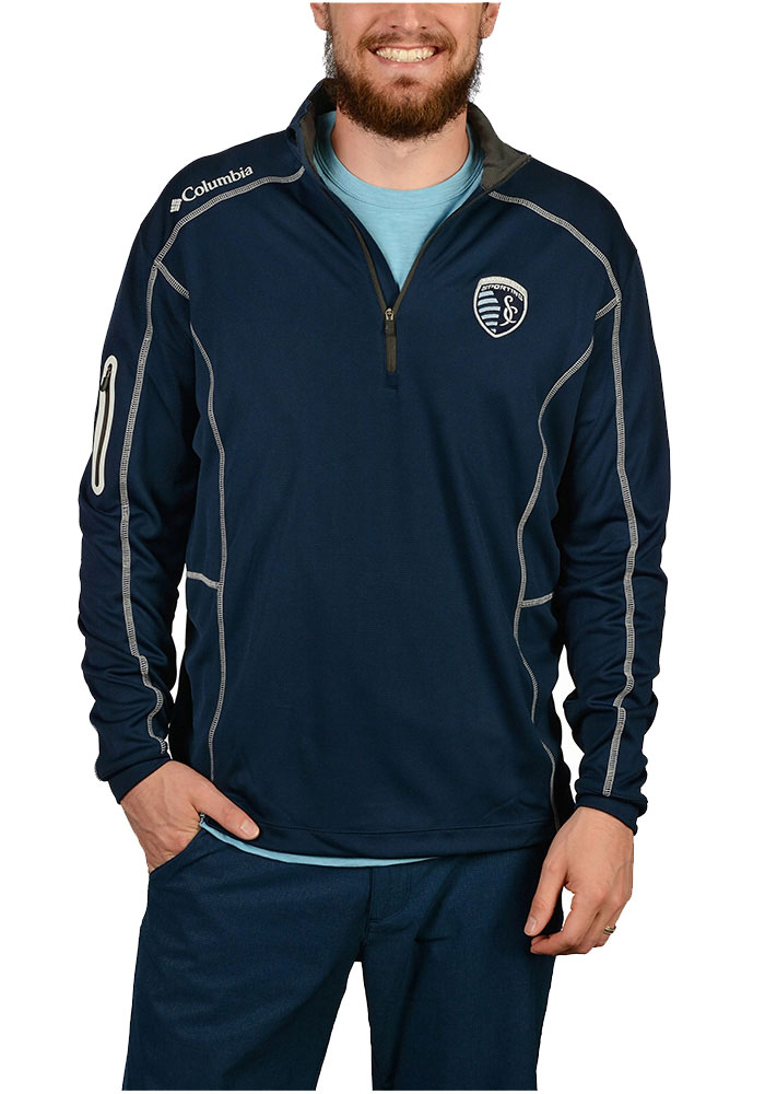 Columbia Sporting Kansas City Navy Blue Shotgun 1/4 Zip Pullover