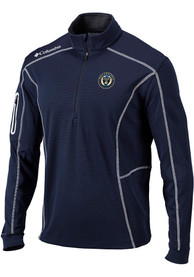 Philadelphia Union Columbia Shotgun 1/4 Zip Pullover - Navy Blue