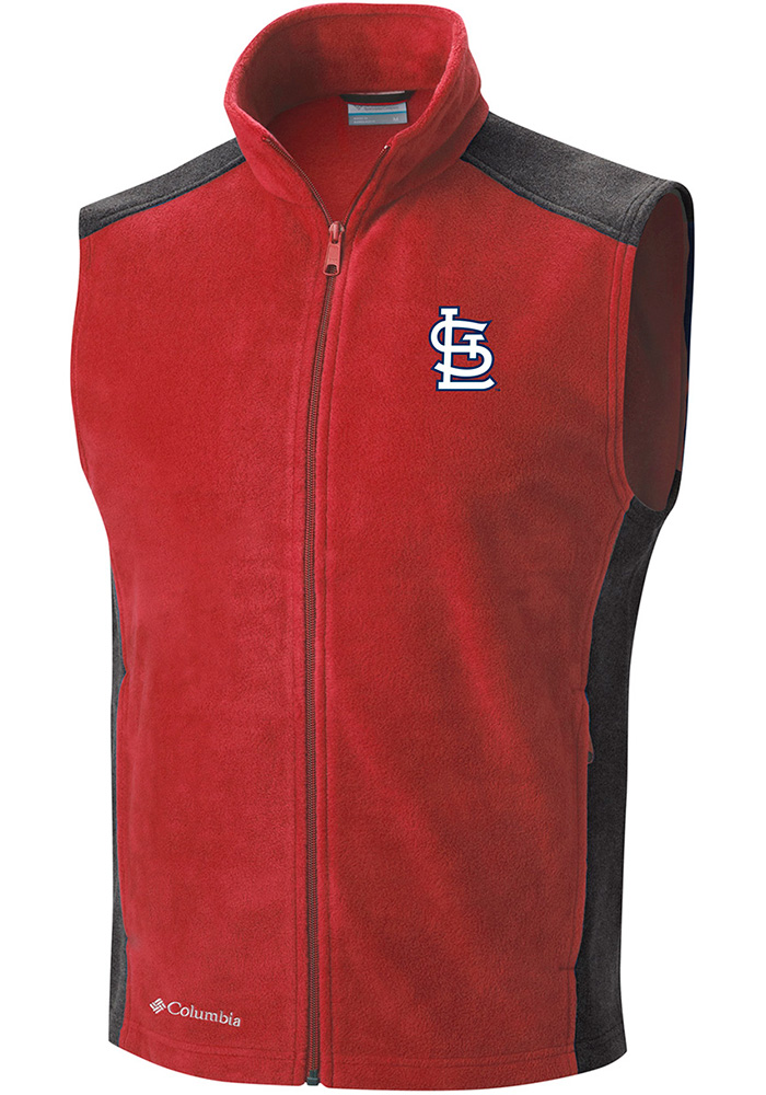 Columbia St Louis Cardinals Mens Red Flanker Sleeveless Jacket - Image 1