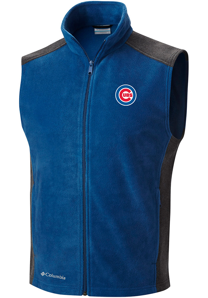 Columbia Chicago Cubs Mens Blue Flanker Sleeveless Jacket - Image 1