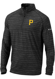 Columbia Pittsburgh Pirates Black Approach 1/4 Zip Pullover