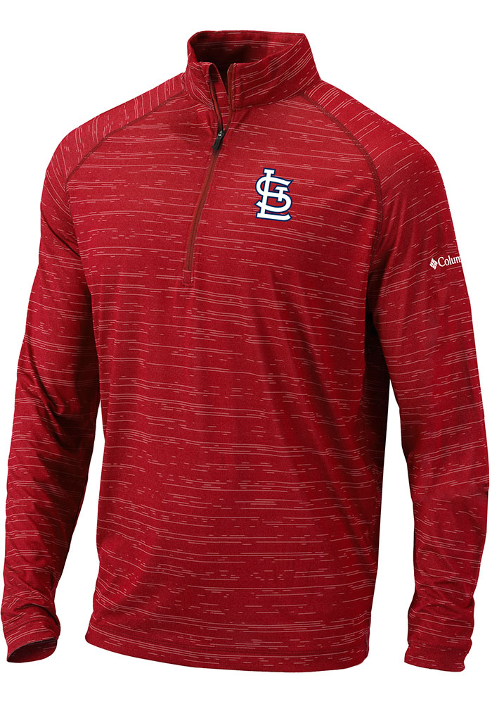 Columbia St Louis Cardinals Mens Red Approach Long Sleeve 1/4 Zip Pullover - Image 1