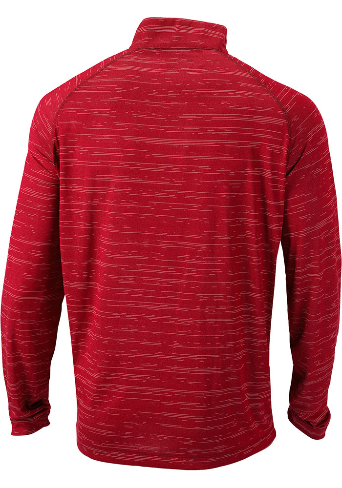 Columbia St Louis Cardinals Mens Red Approach Long Sleeve 1/4 Zip Pullover - Image 2