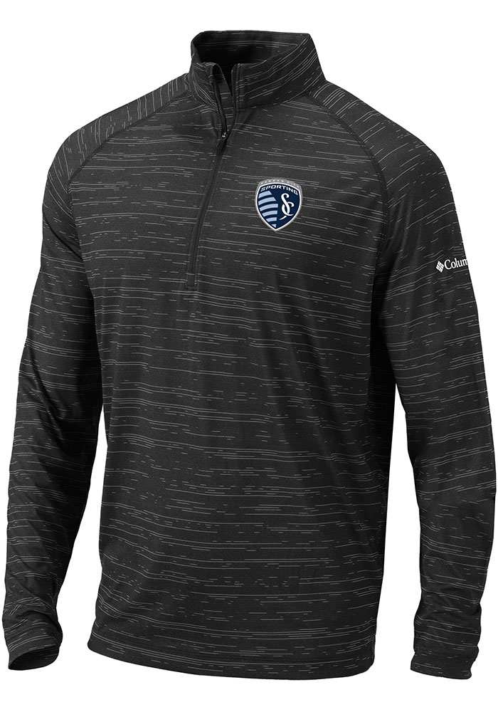 Columbia Sporting Kansas City Mens Black Approach Long Sleeve 1/4 Zip Pullover - Image 1