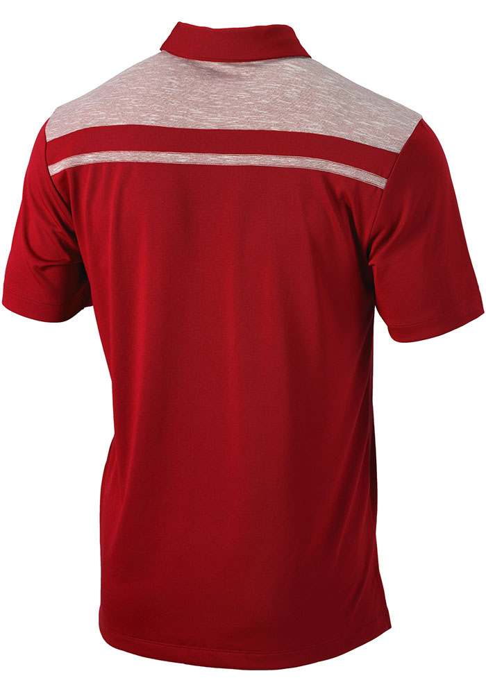 Columbia St Louis Cardinals Mens Red Utility Short Sleeve Polo - Image 2