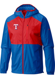 Texas Rangers Columbia Flash Forward Light Weight Jacket - Blue