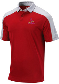 St Louis Cardinals Columbia Bracket Polo Shirt - Red