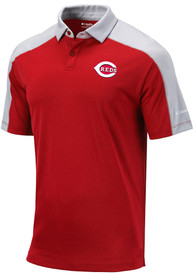 Columbia Cincinnati Reds Red Bracket Short Sleeve Polo Shirt