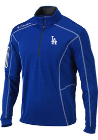 Los Angeles Dodgers Columbia Omni-Wick Shotgun 1/4 Zip Pullover - Blue