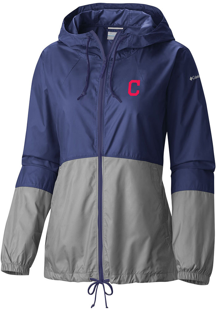 Columbia Cleveland Indians Womens Navy Blue Flash Forward Light Weight Jacket - Image 1