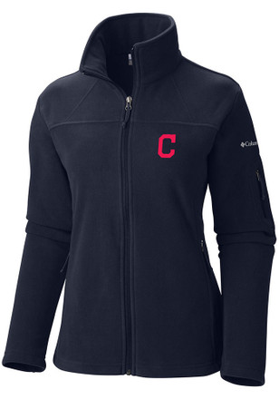 Columbia Cleveland Indians Womens Give and Go Navy Blue 1/4 Zip Pullover