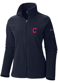 Cleveland Indians Womens Columbia Give and Go Light Weight Jacket - Navy Blue