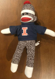 Illinois Fighting Illini 8in Sock Monkey Plush