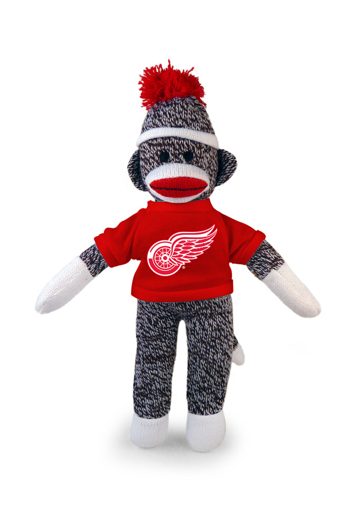 Detroit Red Wings Sock Monkey Plush - Image 1
