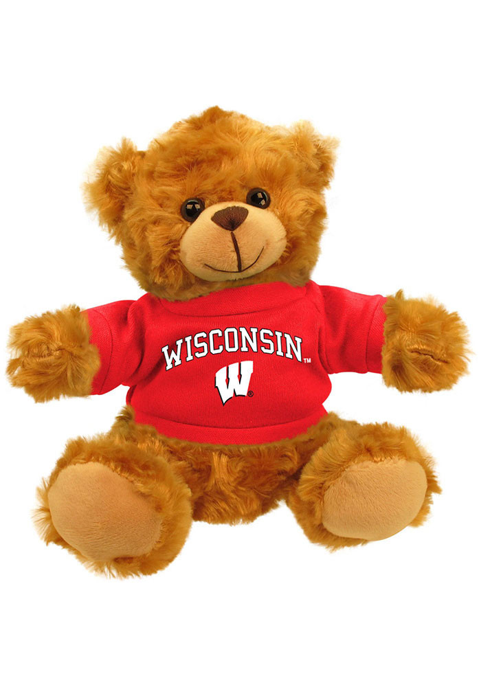 Wisconsin Badgers 6 Inch Jersey Bear Plush - Image 1