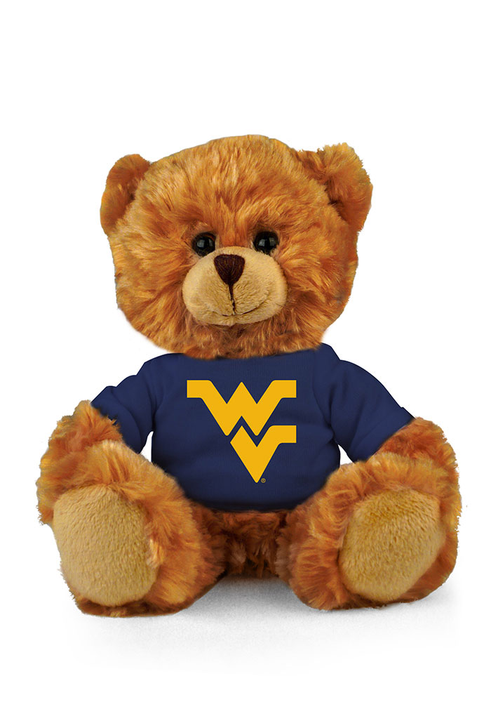 West Virginia Mountaineers 6 Inch Jersey Bear Plush - Image 1