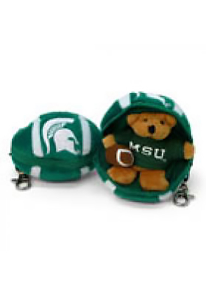Michigan State Spartans 4 Inch Football Keychain - Image 1