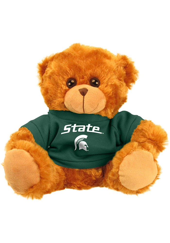 Michigan State Spartans 9 Inch Jersey Bear Plush