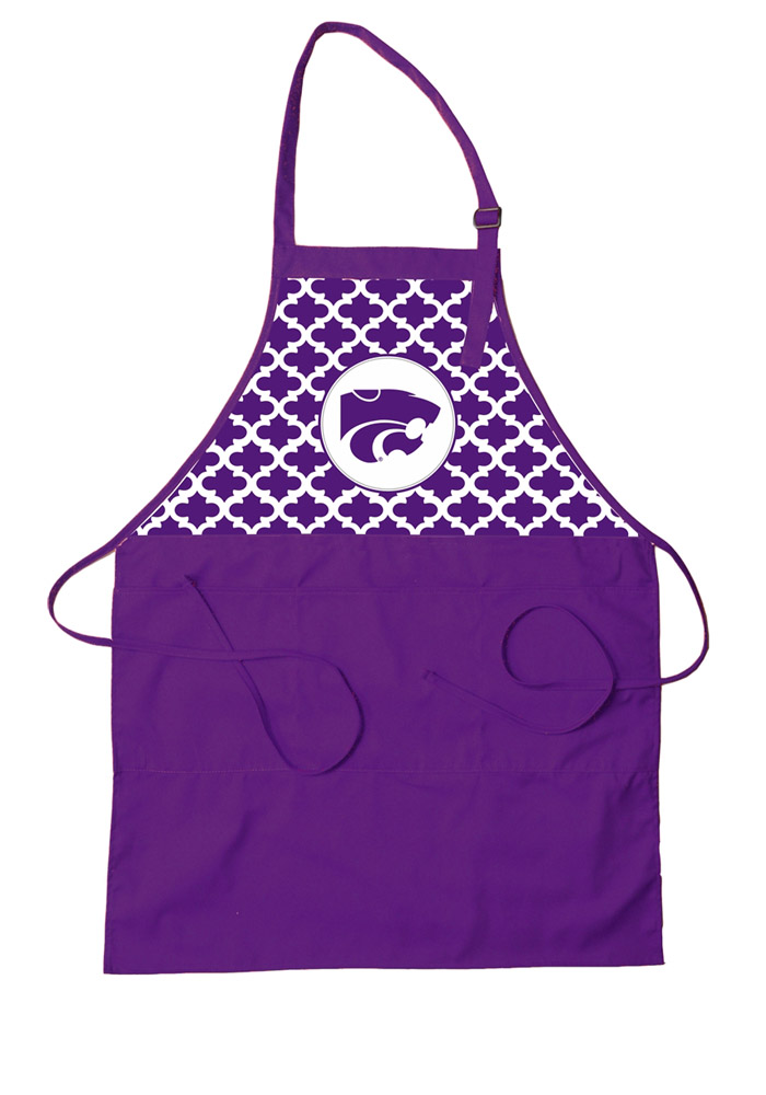 K-State Wildcats Team Color BBQ Apron - Image 1
