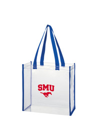 SMU Mustangs White Stadium Approved 12 x 12 x 6 Clear Bag
