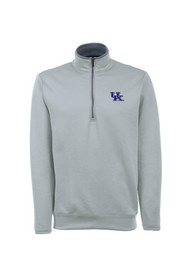 Kentucky Wildcats Antigua Leader 1/4 Zip Pullover - Grey