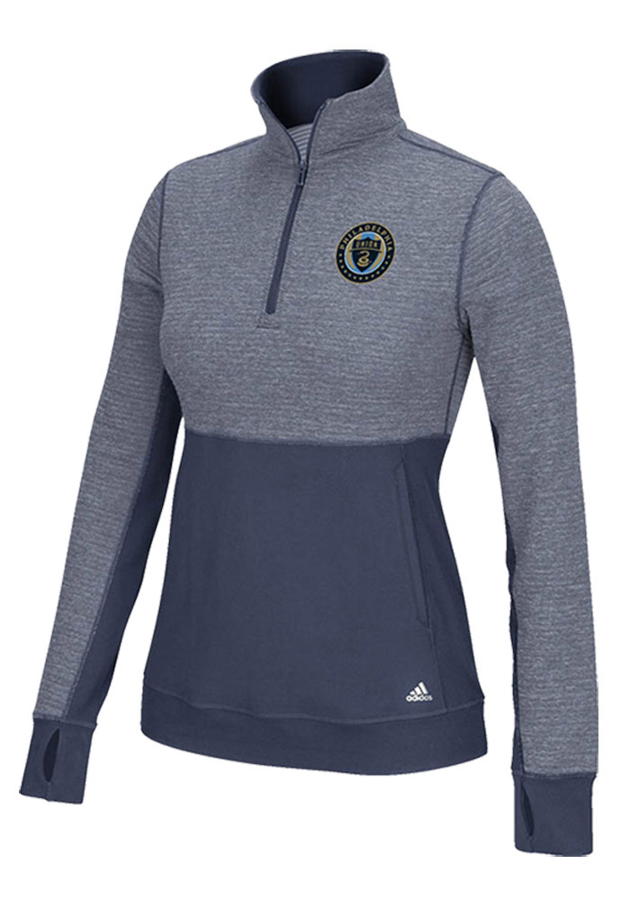 Adidas Union Womens Navy Blue Logo Driven 2.5 1/4 Zip Pullover - Image 1