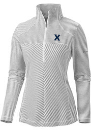 Columbia Xavier Musketeers Womens White Layer First 1/4 Zip Pullover