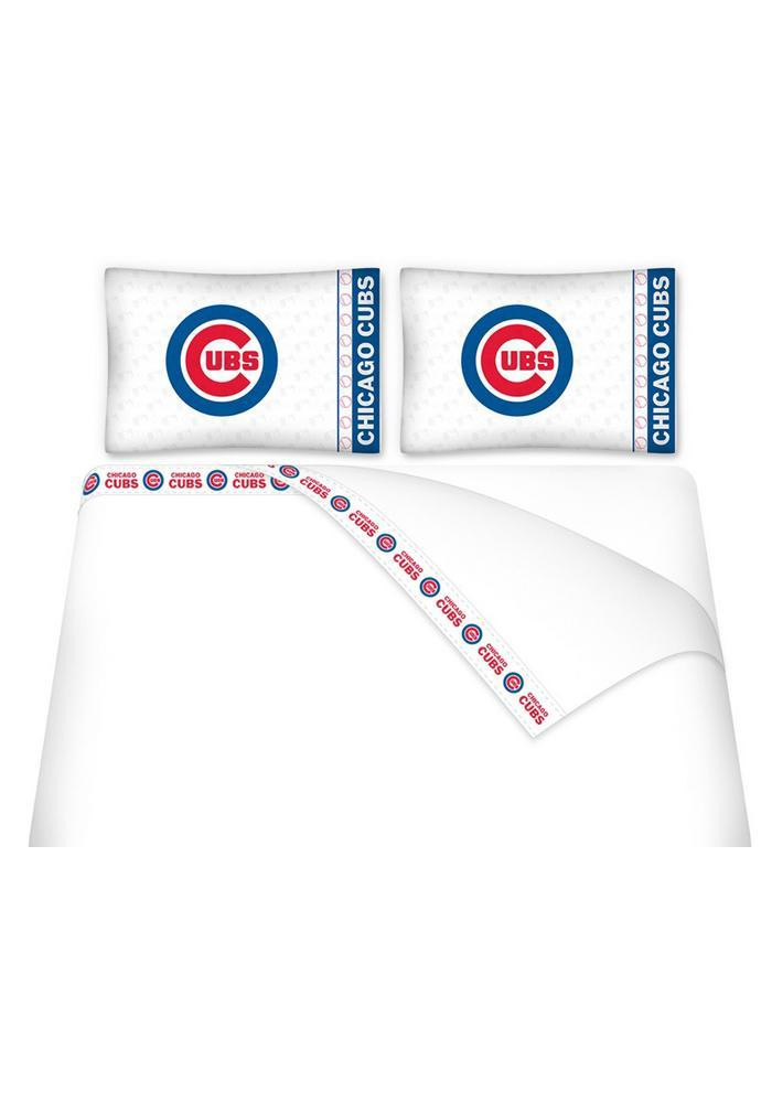 Chicago Cubs Micro Fiber Full Sheet - Image 1