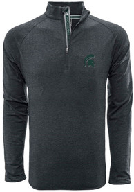 Michigan State Spartans Levelwear Metro 1/4 Zip Pullover - Charcoal