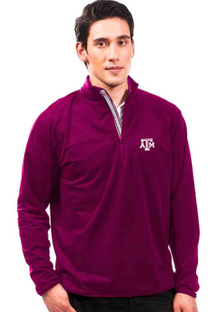 Texas A&M Mens Maroon Metro 1/4 Zip Performance Pullover