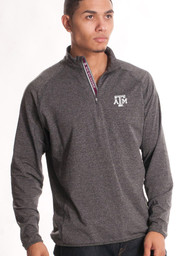 Texas A&M Mens Grey Metro 1/4 Zip Performance Pullover