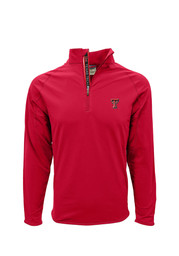 Texas Tech Mens Red Metro 1/4 Zip Performance Pullover