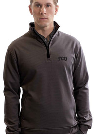 TCU Horned Frogs Empire 1/4 Zip Pullover - Charcoal