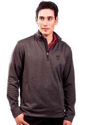 TTech Red Raiders Mens charcoal Empire 1/4 Zip Pullover