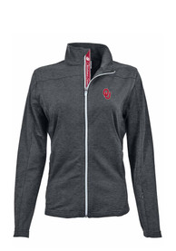 Oklahoma Sooners Womens Levelwear Aurora Light Weight Jacket - Charcoal