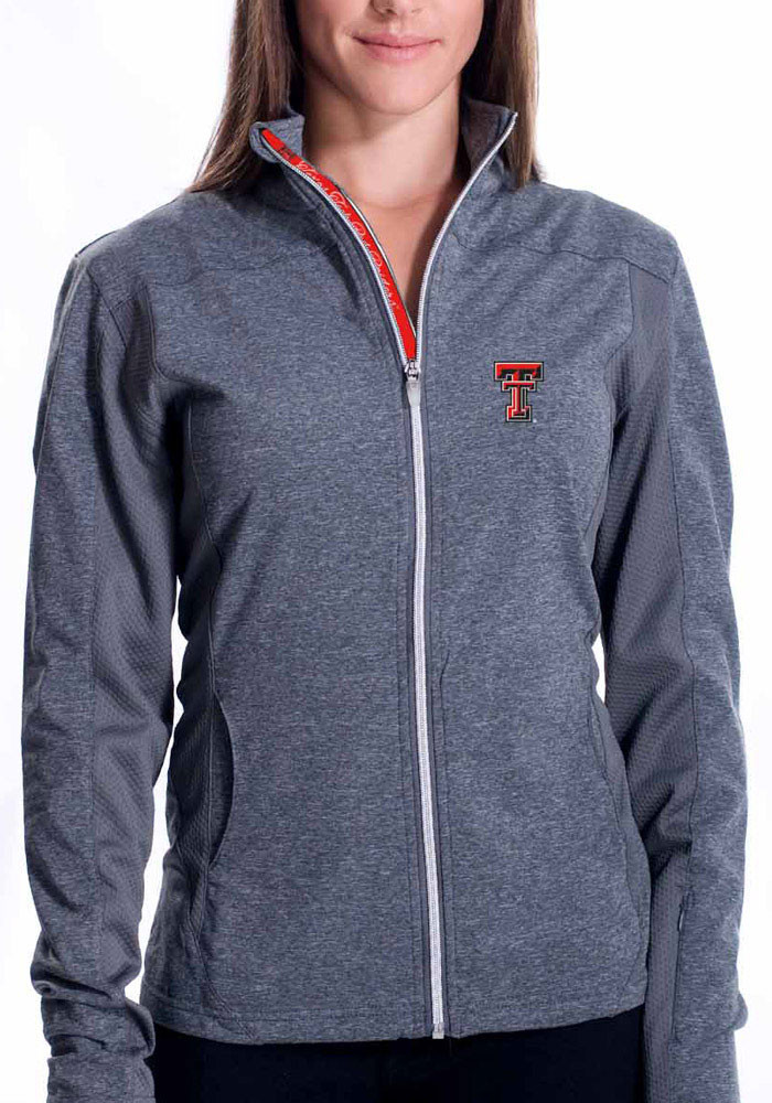Texas Tech Red Raiders Juniors Grey Aurora Light Weight Jacket - Image 1