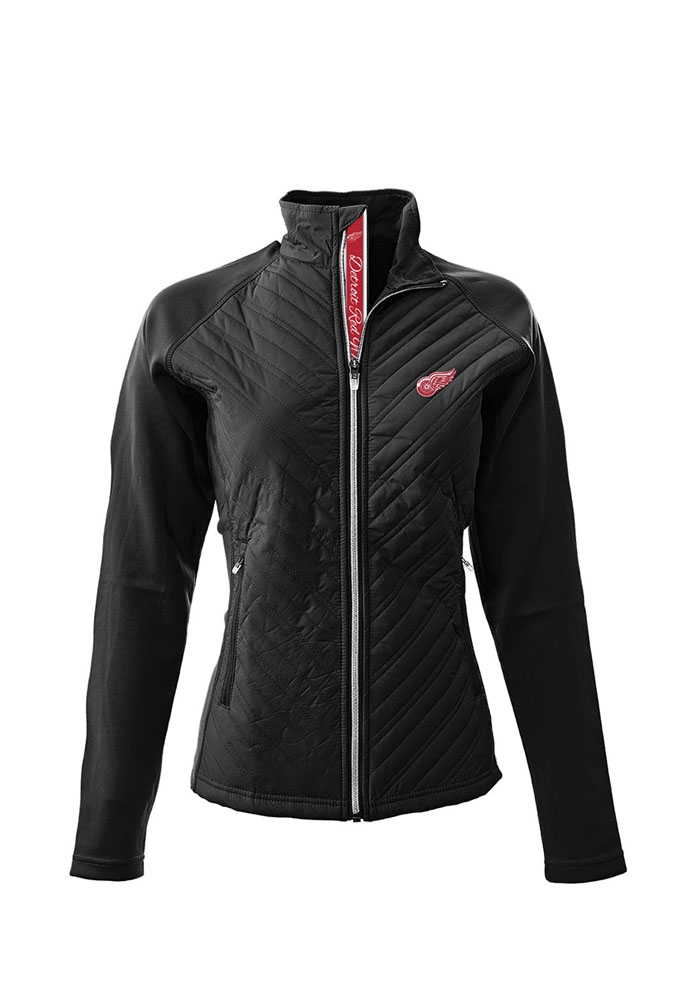 Levelwear Detroit Red Wings Womens Black Scarlett Heavy Weight Jacket - Image 1