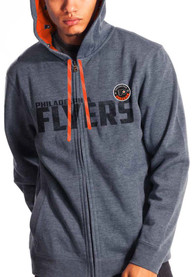 Philadelphia Flyers Levelwear screen printed and embroidered Zip Fashion - Grey